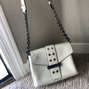 White leather Marc Jacobs cross body purse